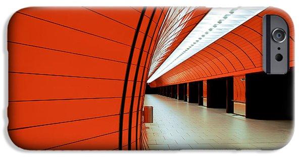 Marienplatz iPhone Cases - Munich subway II iPhone Case by Hannes Cmarits