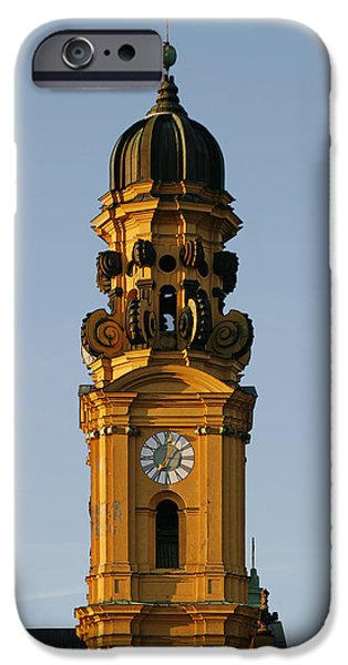 Bayern iPhone Cases - Munich Theatine Church of St. Cajetan - Theatinerkirche St Kajetan iPhone Case by Christine Till