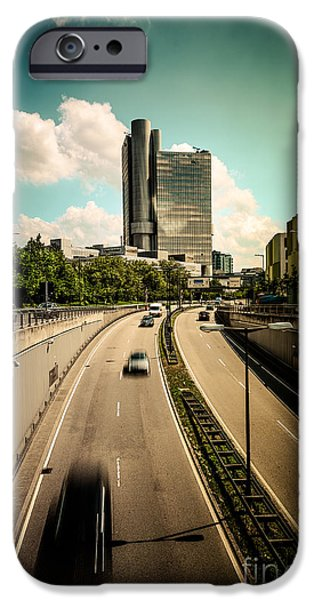 Hightower iPhone Cases - Munich Traffic iPhone Case by Hannes Cmarits