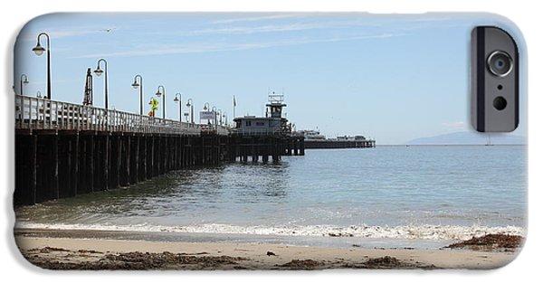 Santa Cruz Wharf iPhone Cases - Municipal Wharf At The Santa Cruz Beach Boardwalk California 5D23766 iPhone Case by Wingsdomain Art and Photography