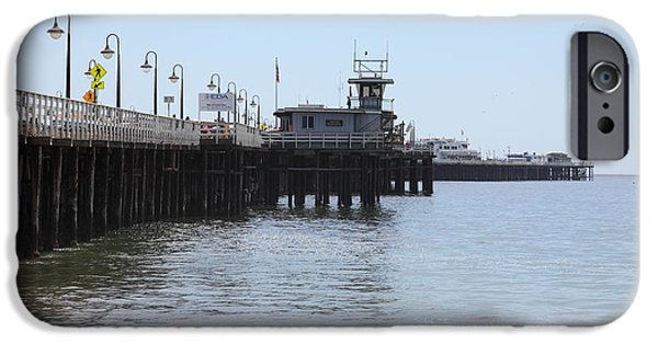 Santa Cruz Wharf iPhone Cases - Municipal Wharf At The Santa Cruz Beach Boardwalk California 5D23767 iPhone Case by Wingsdomain Art and Photography