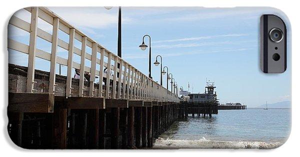 Santa Cruz Wharf iPhone Cases - Municipal Wharf At The Santa Cruz Beach Boardwalk California 5D23768 iPhone Case by Wingsdomain Art and Photography