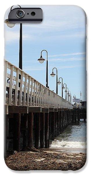 Municipal Wharf At The Santa Cruz Beach Boardwalk California 5D23768 iPhone Case by Wingsdomain Art and Photography