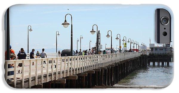 Santa Cruz Wharf iPhone Cases - Municipal Wharf At The Santa Cruz Beach Boardwalk California 5D23773 iPhone Case by Wingsdomain Art and Photography