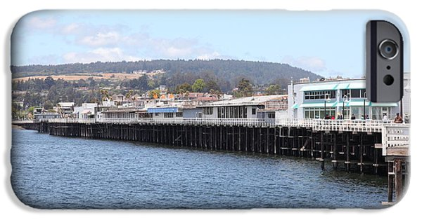 Santa Cruz Wharf iPhone Cases - Municipal Wharf At The Santa Cruz Beach Boardwalk California 5D23813 iPhone Case by Wingsdomain Art and Photography