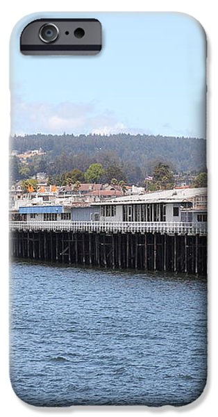 Municipal Wharf At The Santa Cruz Beach Boardwalk California 5D23813 iPhone Case by Wingsdomain Art and Photography