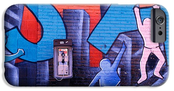 Fragment iPhone Cases - Mural, Nyc, New York City, New York iPhone Case by Panoramic Images
