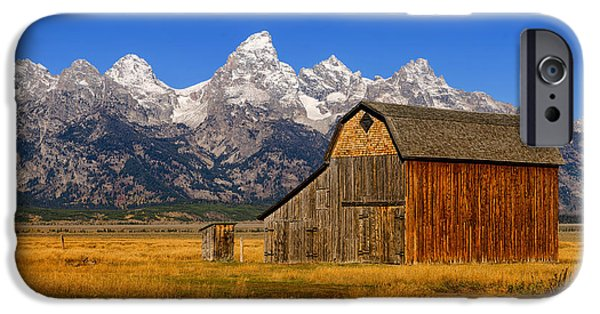 Historic Site iPhone Cases - Murphy Barn iPhone Case by Greg Norrell