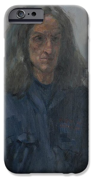 Sombre iPhone Cases - Murray, 2008 Oil On Canvas iPhone Case by Pat Maclaurin
