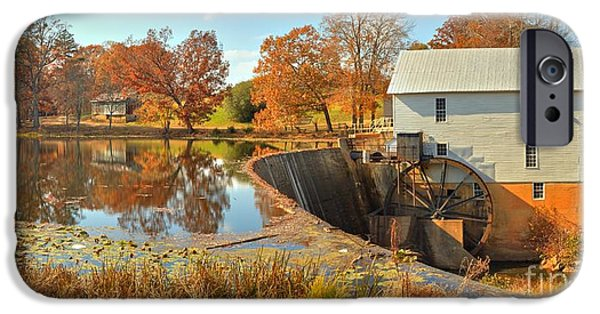 Grist Mill iPhone Cases - Murrays Grist Mill Medium Panorama iPhone Case by Adam Jewell