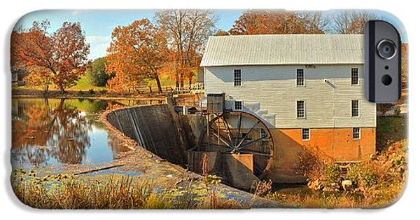 Grist Mill iPhone Cases - Murrays Grist Mill Panorama iPhone Case by Adam Jewell
