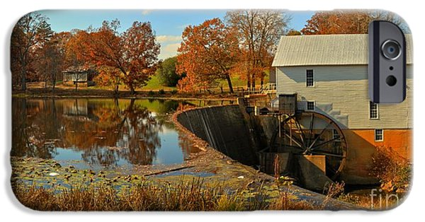 Grist Mill iPhone Cases - Murrays Mill Medium Panorama iPhone Case by Adam Jewell