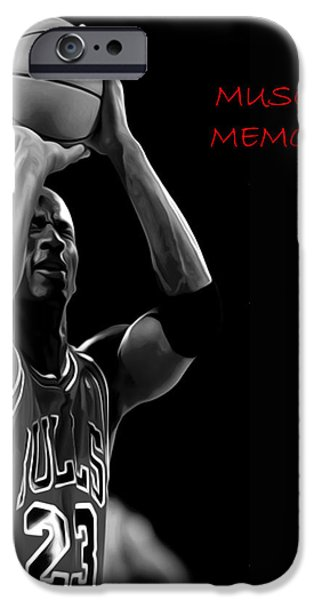 Nike Paintings iPhone Cases - Muscle Memory iPhone Case by Brian Reaves