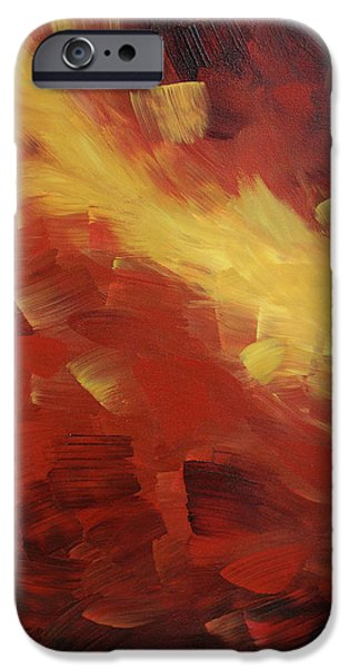 Earth Tone iPhone Cases - Muse In The Fire 1 iPhone Case by Sharon Cummings