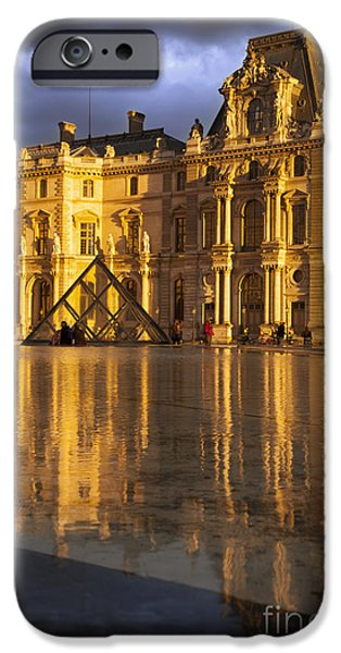Musee du Louvre Sunset iPhone Case by Brian Jannsen