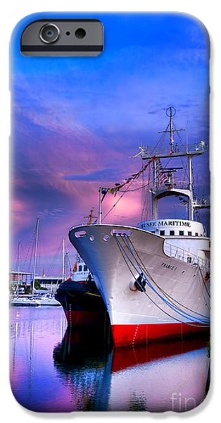 Observation iPhone Cases - Musee Maritime iPhone Case by Olivier Le Queinec