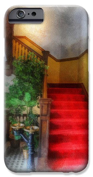 Carnegie Museum iPhone Cases - Museum Stairs iPhone Case by Rick Lloyd