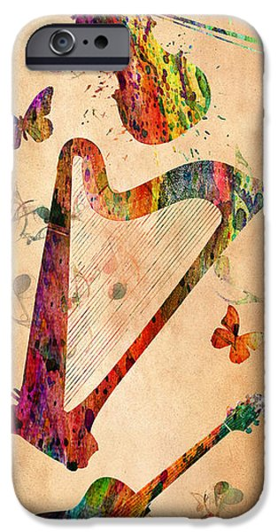 Orsillo iPhone Cases - Music 3 iPhone Case by Mark Ashkenazi
