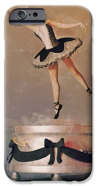 Jewellery Digital Art iPhone Cases - Music Box Ballet Dancer iPhone Case by Liam Liberty