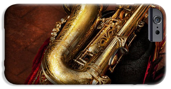 Marching Band Photographs iPhone Cases - Music - Brass - Saxophone  iPhone Case by Mike Savad