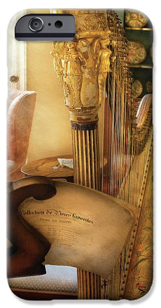 Music - Harp - The Harp iPhone Case by Mike Savad