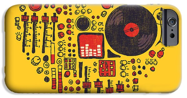 Sound Digital Art iPhone Cases - Music in every hearbeat iPhone Case by Budi Satria Kwan