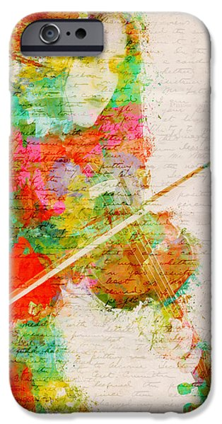 Papers iPhone Cases - Music In My Soul iPhone Case by Nikki Smith