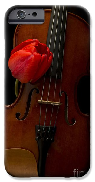 Florals iPhone Cases - Music Lover iPhone Case by Edward Fielding