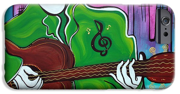 Modernart iPhone Cases - Music Man iPhone Case by Laura Barbosa