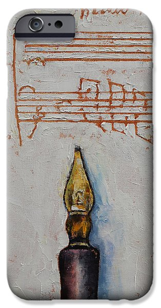 Michael Creese iPhone Cases - Music iPhone Case by Michael Creese