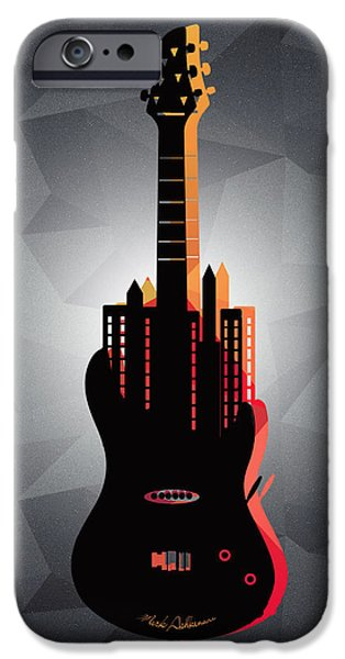 Animation iPhone Cases - music NYC  iPhone Case by Mark Ashkenazi
