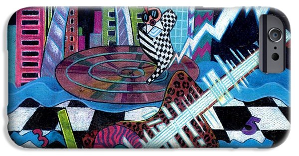 Genevieve Esson iPhone Cases - Music On The River STL Style iPhone Case by Genevieve Esson