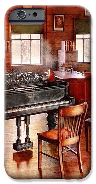 Music - Piano - The grand piano iPhone Case by Mike Savad