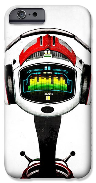 Music roboto iPhone Case by Frederico Borges
