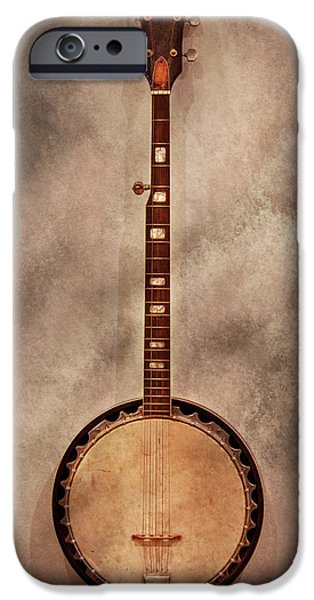 Music - String - Banjo  iPhone Case by Mike Savad