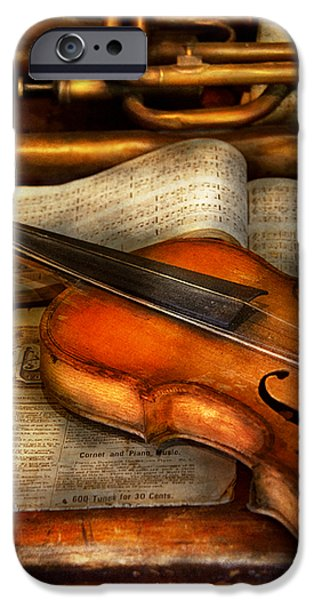Music - Violin - Played it's last song  iPhone Case by Mike Savad