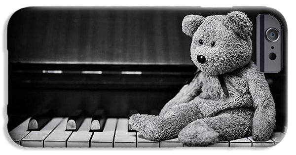 Innocence Photographs iPhone Cases - Musical Bear iPhone Case by Tim Gainey