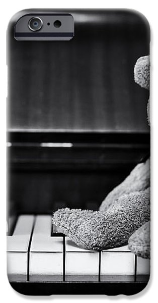 Musical Bear iPhone Case by Tim Gainey