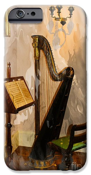 Sheets iPhone Cases - Musical Corner iPhone Case by Marcia Lee Jones