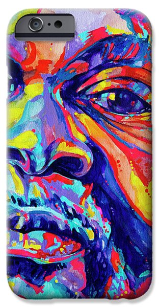 Vivid Colour Paintings iPhone Cases - Musical Genuis iPhone Case by Derrick Higgins