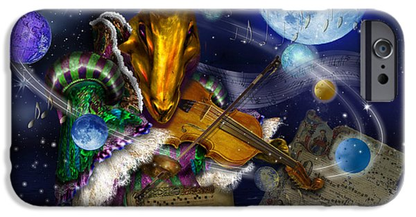 Planets Sculptures iPhone Cases - Musical Hare iPhone Case by Lesly Holliday