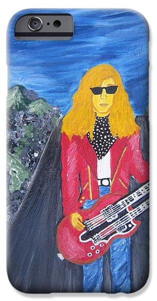 Def Leppard Paintings iPhone Cases - Steve Clark iPhone Case by Angelika Belousova