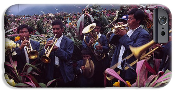 Playing Musical Instruments iPhone Cases - Musicians Celebrating All Saints Day By iPhone Case by Panoramic Images