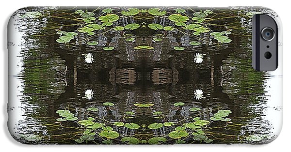 River Tapestries - Textiles iPhone Cases - Muskoka River Lace iPhone Case by Nancy Sendell