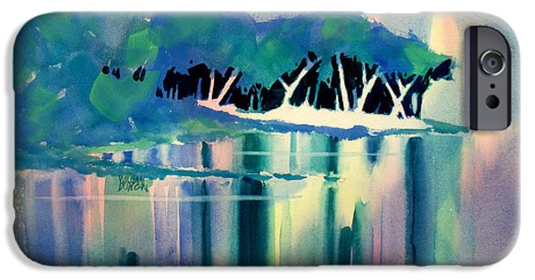 Musky Paintings iPhone Cases - Musky Point iPhone Case by William Duncan