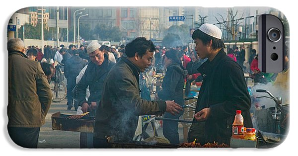 Chinese Market iPhone Cases - Muslim Chinese Uyghur Minority Food iPhone Case by Panoramic Images