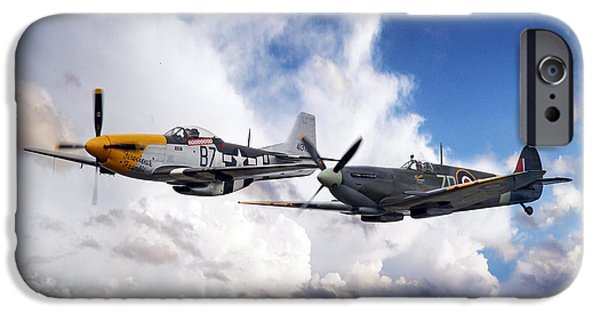 Ferocious Frankie iPhone Cases - Mustang and Spitfire  iPhone Case by J Biggadike