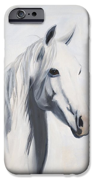 Quarter Horse iPhone Cases - Mustang Mama iPhone Case by Jack Atkins