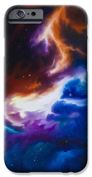 Hammer Paintings iPhone Cases - Mutara Nebula iPhone Case by James Christopher Hill