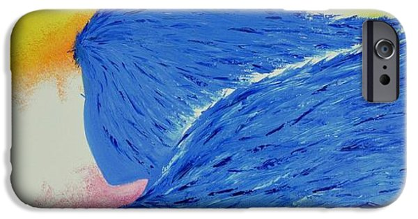 Angel Blues iPhone Cases - My Angel iPhone Case by Marianna Mills